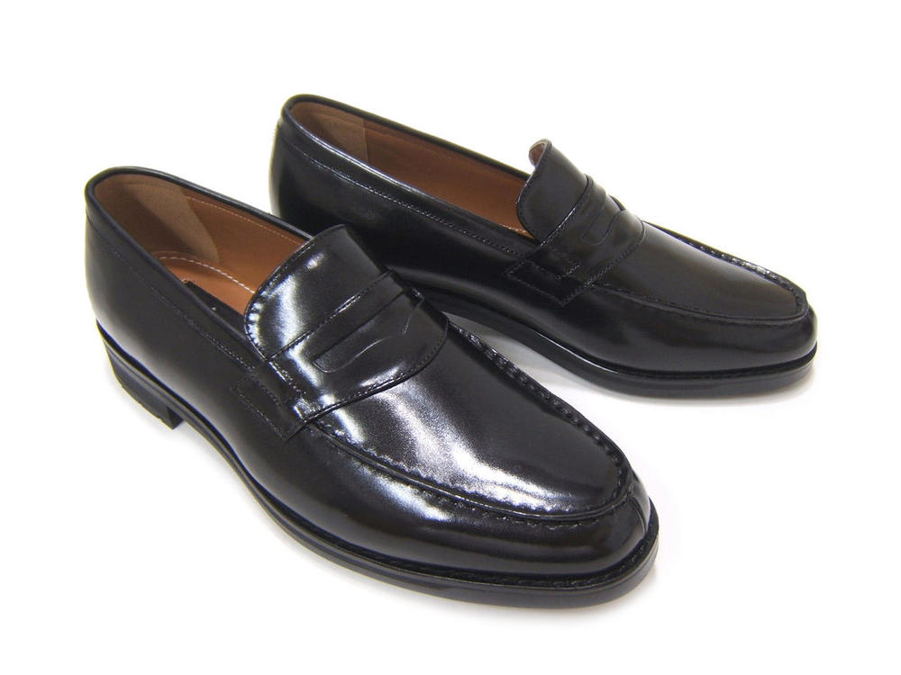 本革!Made in Japan!こだわりの紳士靴!カルロメディチ 紳士靴 CJ-3702 ブラック ビジネスローファー 送料無料
