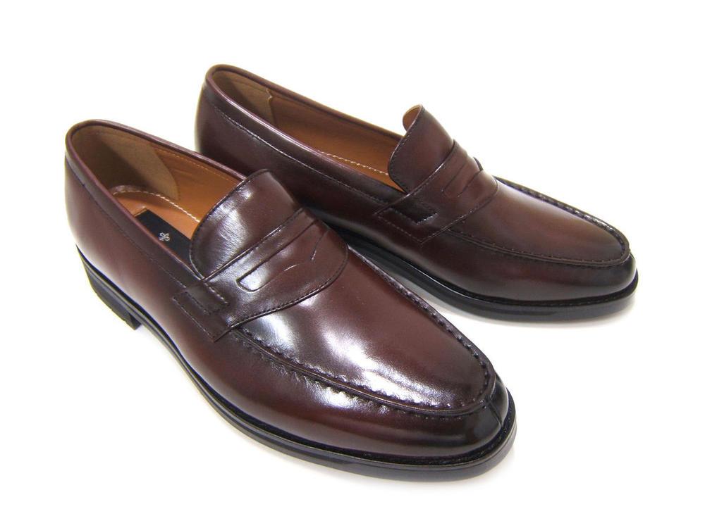 本革!Made in Japan!こだわりの紳士靴!カルロメディチ 紳士靴 CJ-3702 ワイン ビジネスローファー 送料無料