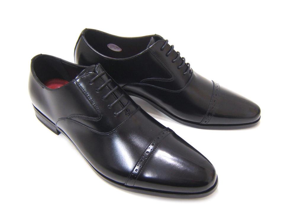 イタリアンモードにこだわったロングノーズ!カルロメディチ 紳士靴 CJ-3051 ブラック ストレートチップカジュアル ビジネス 送料無料 3Eワイズ 日本製
