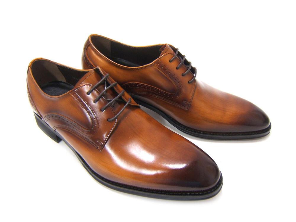 イタリアンモードを体現する上質な革靴!(刷毛筋が見えるこだわりの染色仕様)アントニオ ドュカッティ/ANTONIO DUCATI 紳士靴 DC-2702 ダークブラウン プレーントゥ 外羽根 送料無料