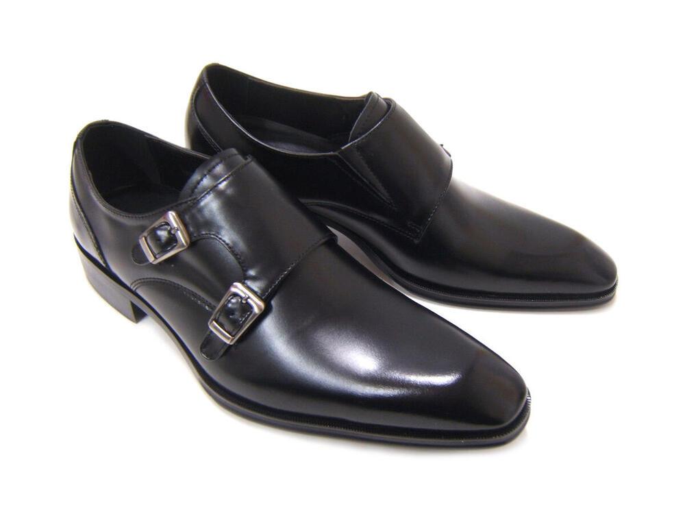 イタリアンモードで上品かつスマートな紳士靴!アントニオ ドュカッティ/ANTONIO DUCATI 紳士靴 DC-1181 ブラック プレーントゥ ベルトストラップ 送料無料