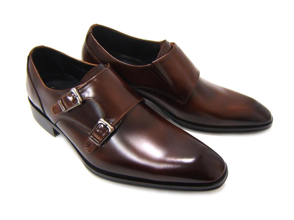 イタリアンモードで上品かつスマートな紳士靴!アントニオ ドュカッティ/ANTONIO DUCATI 紳士靴 DC-1181 ダークブラウン プレーントゥ ベルトストラップ 送料無料