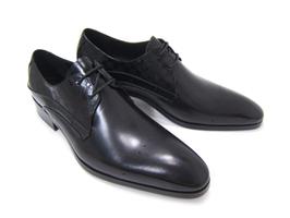 パーティーや結婚式♪艶やかで華がある足元を演出!フランコ ルッチ トラディショナル/FRANCO LUZ TRADITIONAL TH-01 ブラック 紳士靴 変形ストレート 型押しデザインレザー 送料無料