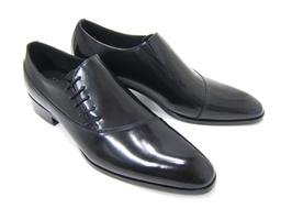 パーティーや結婚式♪艶やかで華がある足元を演出!フランコ ルッチ トラディショナル/FRANCO LUZ TRADITIONAL TH-57 ブラック 紳士靴 サイドレースアップ アーモンドトゥ 送料無料
