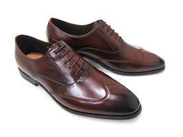 イタリアンクラシックで魅せる足元へ♪フランコ ルッチ/FRANCO LUZ FL2633-DBR ダークブラウン 紳士靴 ウィングチップ 内羽根 ビジネス 送料無料 日本製
