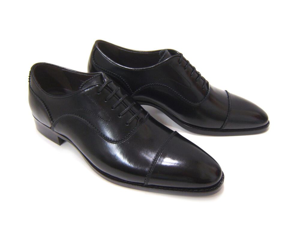 パーティーや結婚式♪艶やかで華がある足元を!フランコ ルッチ トラディショナル/FRANCO LUZI TRADITIONAL TH-867 ブラック 紳士靴 ストレートチップ 内羽根 送料無料