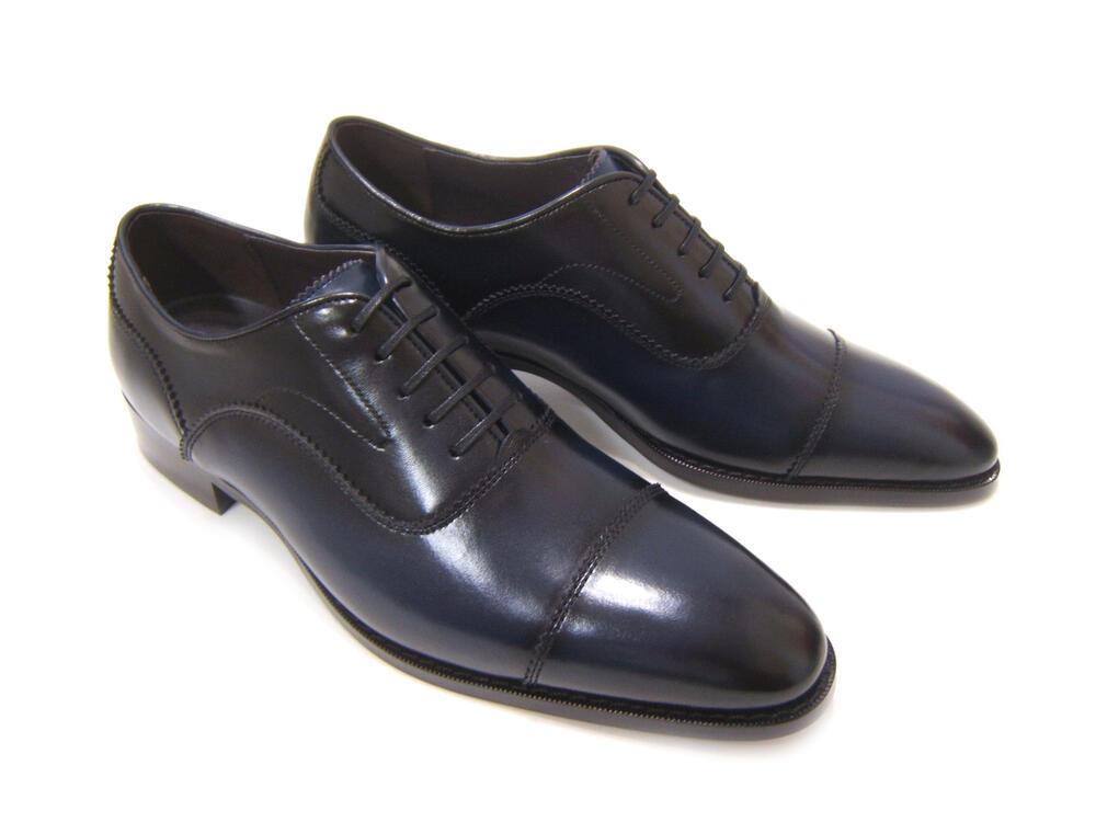 パーティーや結婚式♪艶やかで華がある足元を!フランコ ルッチ トラディショナル/FRANCO LUZ TRADITIONAL TH-867 ネイビー 紳士靴 ストレートチップ 内羽根 送料無料