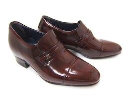 4cm+2cmのさり気ないシークレットシューズ♪NORDINI/ノルディーニ BU-531 ワイン 紳士靴 シークレット スタイルアップ 背が高くなる靴 ビジネス 送料無料