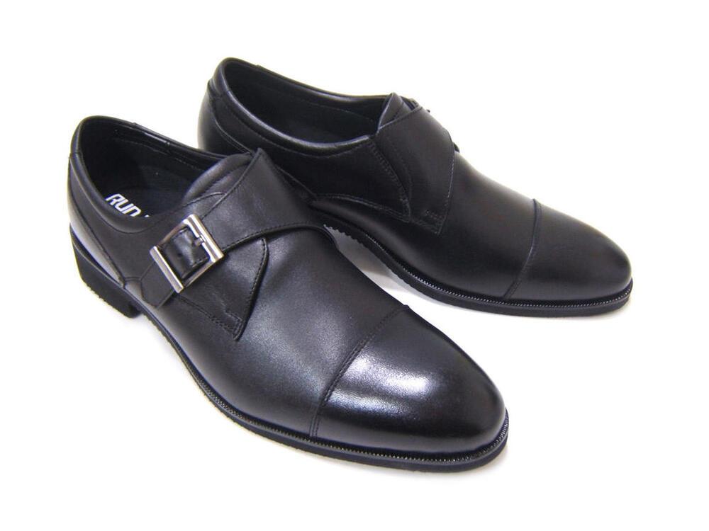 ビブラムソール搭載の軽量ビジネスシューズ!RUN&FAN/ラン アンド ファン ストレートチップ モンクストラップ 紳士靴 ビジネスシューズ 送料無料 フレッシャーズ フォーマル ポイント10倍