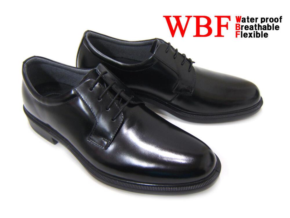 高防水性&透湿性&屈曲性!3拍子揃った紳士靴♪WBF/ハイパフォーマンス シューズ 紳士靴 ビジネスシューズ プレーントゥ 外羽根 送料無料 ブラック ポイント10倍 フレッシャーズ