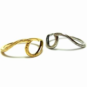 ハワイアンジュエリー リング ハート 波 ウェーブ K14 イエローゴールド シルバー ペア 送料無料 ジュエリー アクセサリー 指輪 ring レディース メンズ ギフト プレゼント クリスマス バレンタイン ホワイトデー