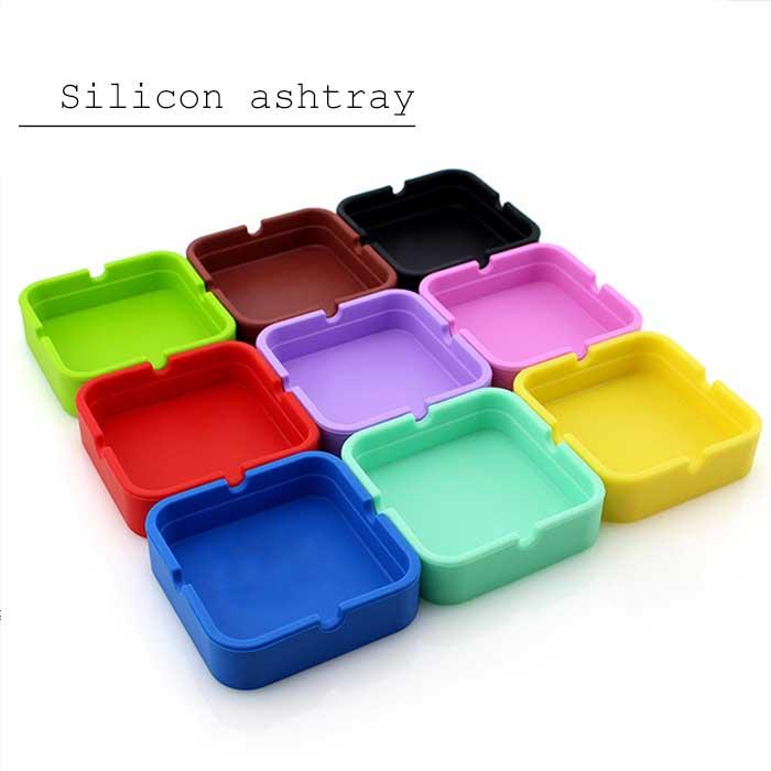 手のひらサイズのシリコン灰皿 メール便 シリコン製灰皿 四角 silicon ashtray ポップ シンプル 安い ユニセックス カラフル ブラウン ミント レッド 年末年始大決算 イエロー ブルー ピンク パープル ブラックアッシュトレイ グリーン