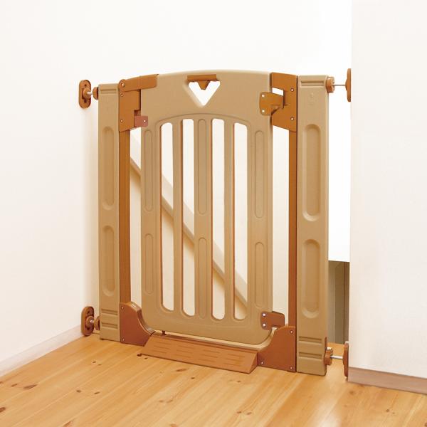 日本育児 スマートゲイト2 プラス 階段上でも使用できる扉付きゲート 柵対応ゲート 犬 猫 柵 ゲート