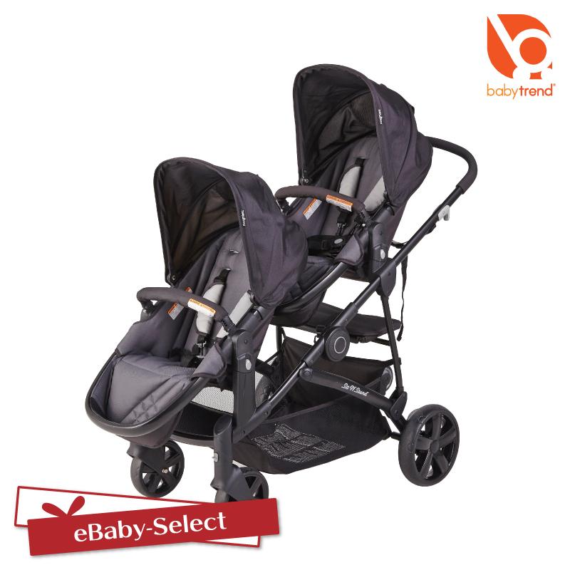 日本育児 BabyTrend(ベビートレンド) シット&スタンド スナップギア ベビーカー 双子 二人乗り