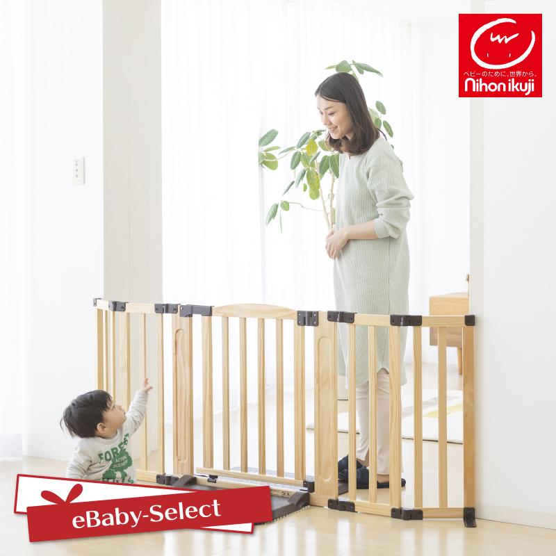 日本育児 おくだけドアーズWoody-Plus Lサイズ すべり止めマット付き ベビーゲート 置くだけ 小規模保育