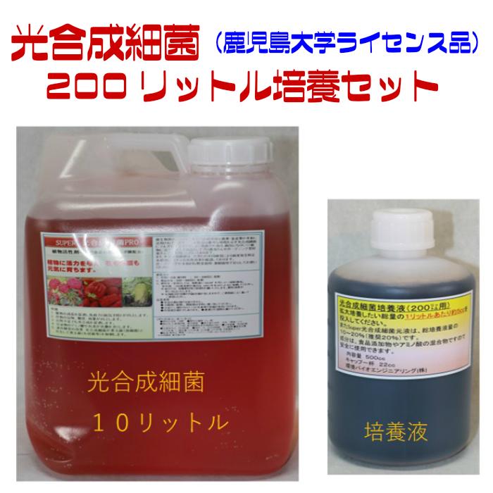 光合成細菌 200リットル 培養セット 培養容器20リットル 4個付き