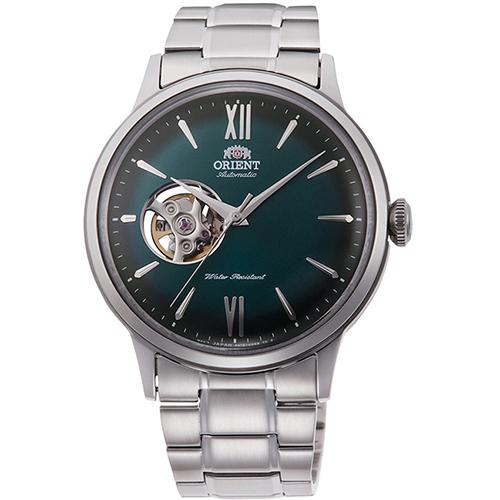 【長期保証付】オリエント RN-AG0015E クラシック セミスケルトン 機械式時計 (メンズ)