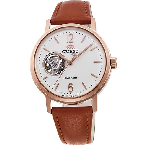 オリエント RN-AG0022S クラシック セミスケルトン 機械式時計 (レディース)
