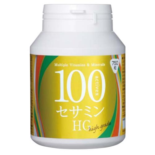 エックスワン X-one アクティベックス 100セサミン HG(750粒入) 大豆 ビタミン ミネラル 必須アミノ酸 栄養機能食品 マグネシウム 亜鉛
