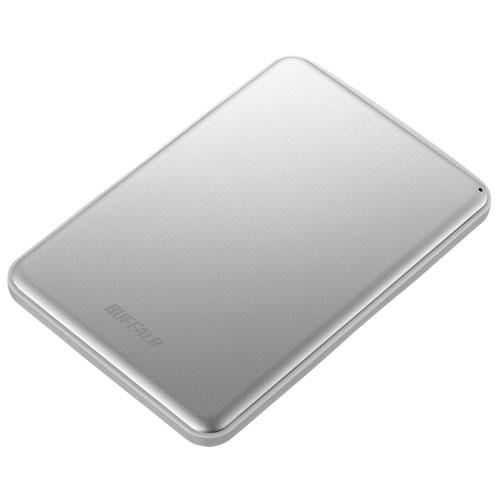 バッファロー HD-PUS1.0U3-SVD(シルバー) アルミ素材 薄型 ポータブルHDD 1TB