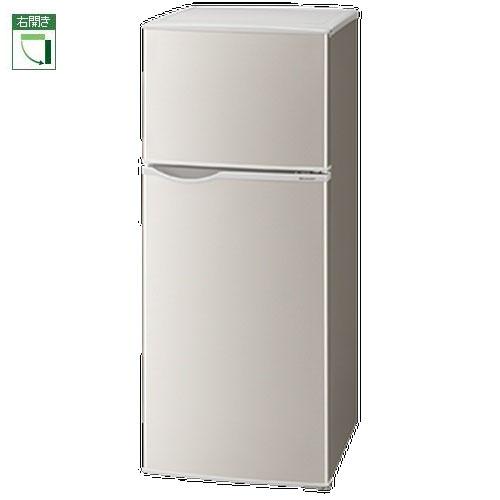 【設置+リサイクル(別途料金)+長期保証】シャープ SJ-H13E-S(シルバー系) 2ドア冷蔵庫 右開き 128L
