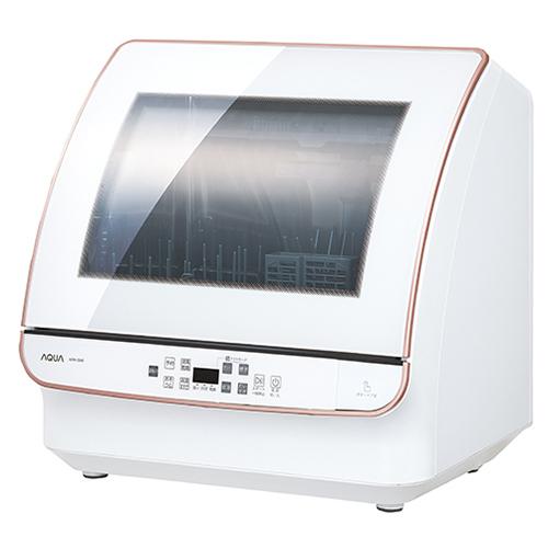 【設置+リサイクル(別途料金)+長期保証】アクア ADW-GM2-W(ホワイト) 食器洗い機 送風乾燥機能付き 4人分