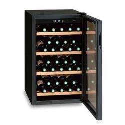【長期保証付】三ツ星貿易 MB-6110C(ブラック) ワインクーラー 右開き 32本収納