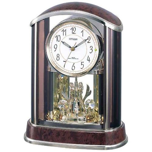 シチズン 4RY658-N23(茶色木目仕上) パルアモールR658N 回転飾り付電波掛け時計