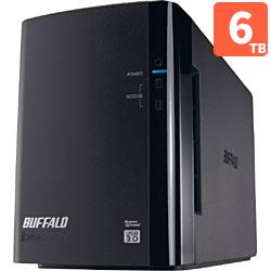 バッファロー HD-WL6TU3/R1J 外付HDD 6TB USB3.0接続 RAID対応 2ドライブ