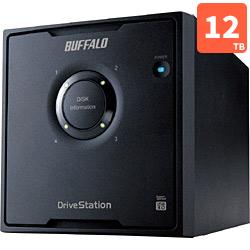 バッファロー HD-QL12TU3/R5J 外付HDD 12TB USB3.0接続 RAID対応 4ドライブ