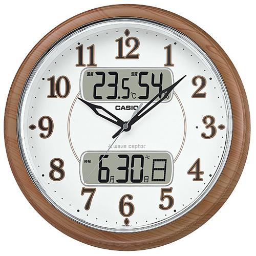 結婚祝い CASIO ITM-900FLJ-5JF(濃茶木調) 電波掛け時計, 雑貨屋マスコット 939341a7