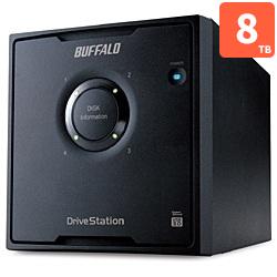 バッファロー HD-QL8TU3/R5J 外付HDD 8TB USB3.0接続 RAID対応 4ドライブ