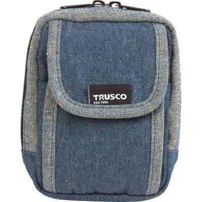 トラスコ中山 TDC-H101 デニム携帯電話用ケース 2ポケット 授与 数量限定アウトレット最安価格 ブルー