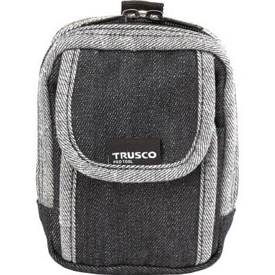 期間限定特価品 トラスコ中山 TDC-H102 デニム携帯電話用ケース 2ポケット 祝開店大放出セール開催中 ブラック