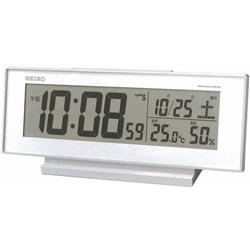在庫あり 14時までの注文で当日出荷可能 セイコー SEIKO SQ762W 電波目覚まし時計 SQ762Wポータブル 熱中症対策 ファッション通販 太陽 気温 アウトドア 散歩 湿度 外出 マーケティング 日焼け
