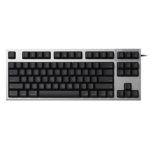 東プレ R2TL-USVM-BK(シルバー/黒) REALFORCE TKL for Mac 英語86配列 レーザー印字 変荷重