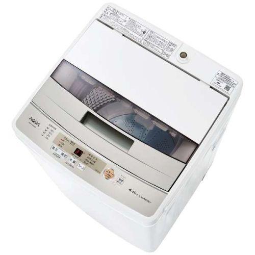 アクア AQW-S45H-W(ホワイト) 全自動洗濯機 上開き 洗濯4.5kg