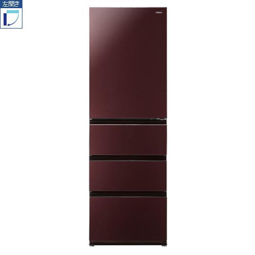 【標準設置料金込】【送料無料】アクア AQR-VZ46JL-T(クリアモカブラウン) 4ドア冷蔵庫 左開き 458L[代引・リボ・分割・ボーナス払い不可]