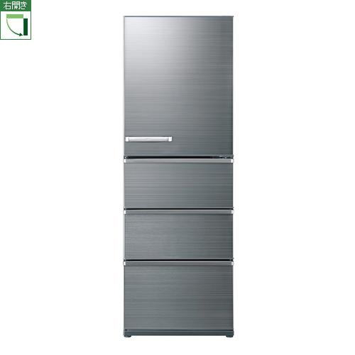 【標準設置料金込】【送料無料】アクア AQR-V43J-S(チタニウムシルバー) 4ドア冷蔵庫 右開き 430L[代引・リボ・分割・ボーナス払い不可]