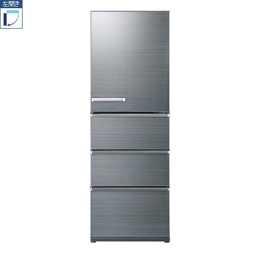 【標準設置料金込】【送料無料】アクア AQR-V43JL-S(チタニウムシルバー) 4ドア冷蔵庫 左開き 430L[代引・リボ・分割・ボーナス払い不可]