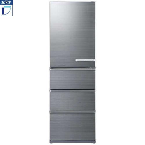 【標準設置料金込】【長期保証付】【送料無料】アクア AQR-V46JL-S(チタニウムシルバー) 4ドア冷蔵庫 左開き 458L[代引・リボ・分割・ボーナス払い不可]