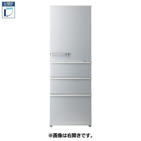 【標準設置料金込】【送料無料】アクア AQR-36JL-S(ミスティシルバー) 4ドア冷蔵庫 左開き 355L[代引・リボ・分割・ボーナス払い不可]