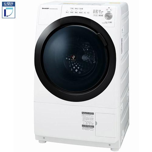 【標準設置料金込】【長期保証付】【送料無料】シャープ ES-S7E-WL(ホワイト系) ドラム式洗濯乾燥機 左開き 洗濯7kg/乾燥3.5kg[代引・リボ・分割・ボーナス払い不可]