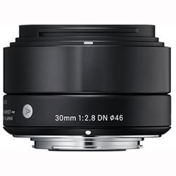 【長期保証付】シグマ 30mm F2.8 DN(ブラック) マイクロフォーサーズ用