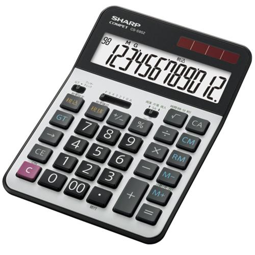 【在庫あり】14時までの注文で当日出荷可能! シャープ CS-S952-X 実務電卓 12桁