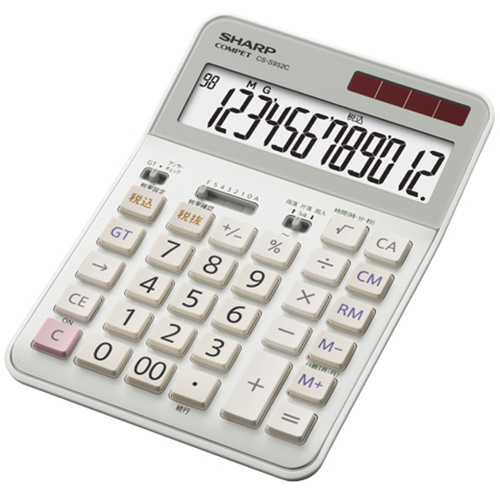 【在庫あり】14時までの注文で当日出荷可能! シャープ CS-S952C-X 実務電卓 12桁
