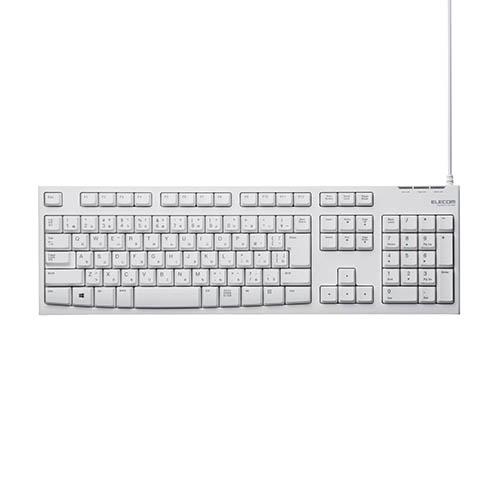 エレコム TK-FCM062WH ホワイト スタンダードキーボード 記念日 入荷予定 USB接続