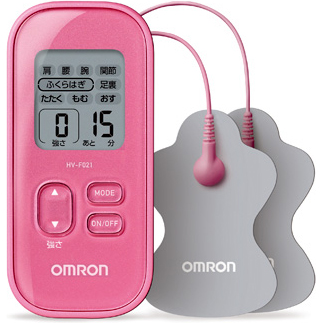 在庫あり 14時までの注文で当日出荷可能 オムロン 直営ストア HV-F021-PK 全身用 お中元 ピンク 低周波治療器