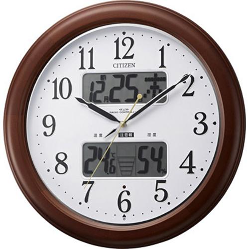 シチズン 4FY620-006 高精度温湿度計付電波掛け時計 インフォームナビEX 4FY620-006ポータブル 熱中症対策 アウトドア 外出 気温 湿度 散歩 日焼け 太陽