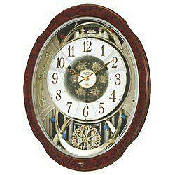 リズム時計 4MN499RH23(木目仕上) スモールワールドブルームDX 報時付電波置時計